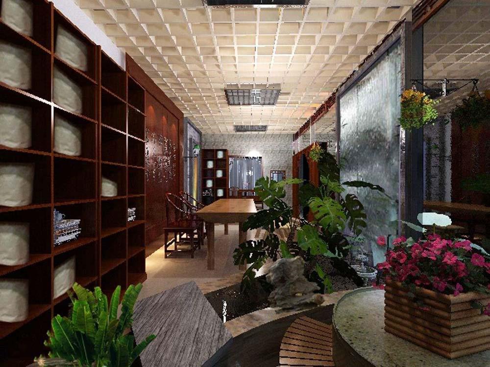 宜宾专业茶店装修设计,宜宾茶叶店铺装修设计