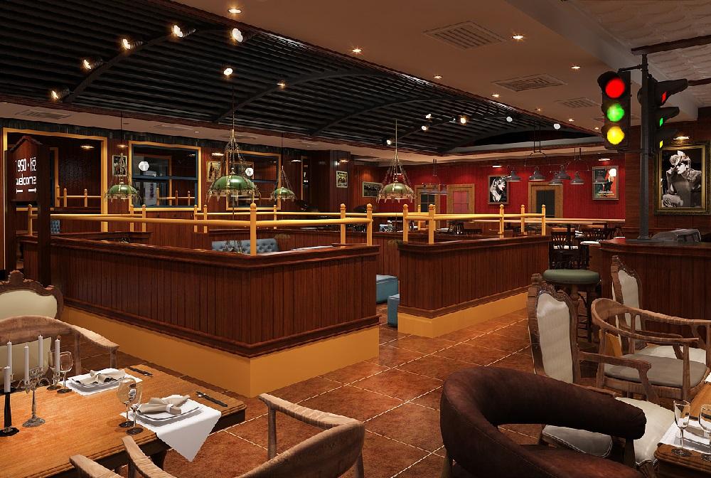 成都美式西餐厅装修设计案例,成都高档西餐厅装修设计