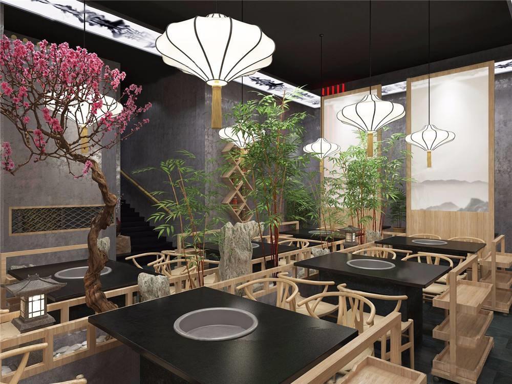 成都新中式风格装修餐饮,四川成都风餐饮装修
