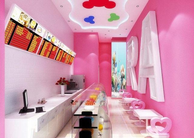 成都特色甜品店装修设计,成都新中式餐饮店装修设计