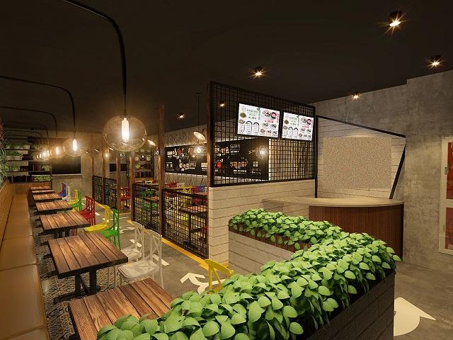 成都餐饮店面装修设计,成都餐饮店面120㎡改造案例