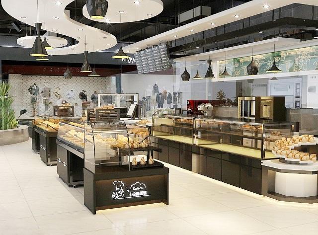 成都创意蛋糕店装修设计,成都两层蛋糕店装修设计