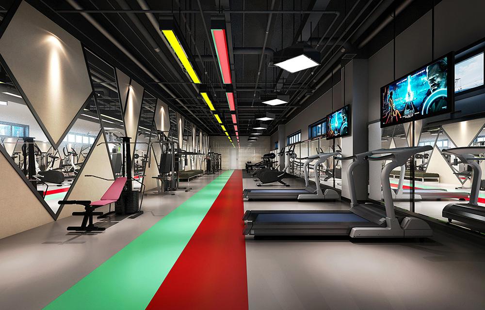 成都健身房装修如何设计,成都健身房室内空间设计
