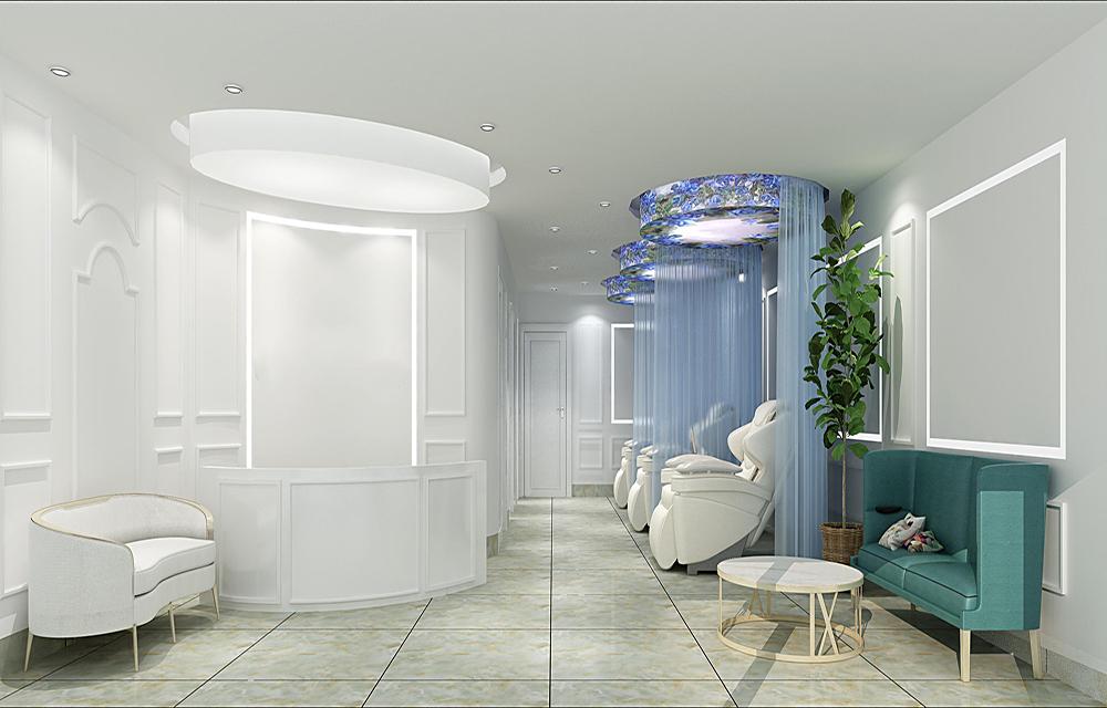 成都美容院大厅装修图,装修美容院注意事项有哪些?